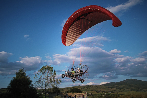 Air chopper, len na motorovom paraglide