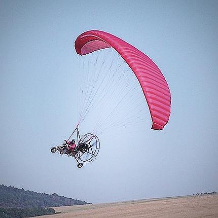 Airchooper, ukážka letu, motorový paraglide