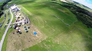Letisko Očová počas parašutistikého podujatia