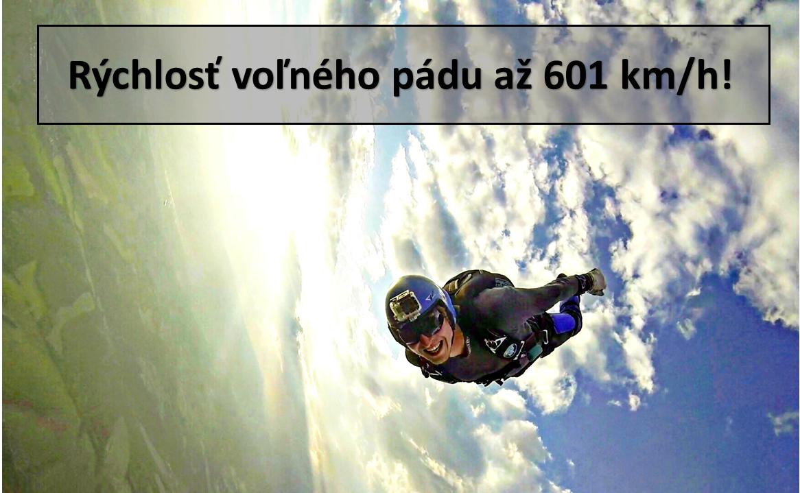 rýchlosť voľného pádu